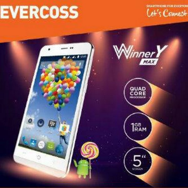harga Evercoss A75 Winner Y Max. - Quad Core 1,3 GHz, 5