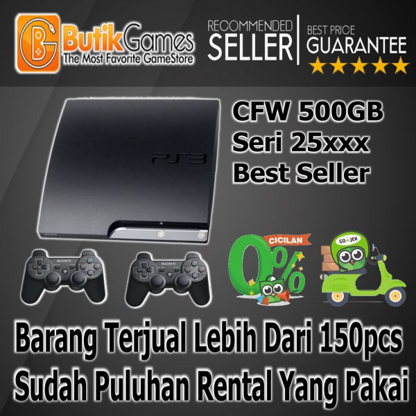 harga (Terbatas) SONY PS3 SLIM CFW Playstation 3 500 GB elevenia.co.id