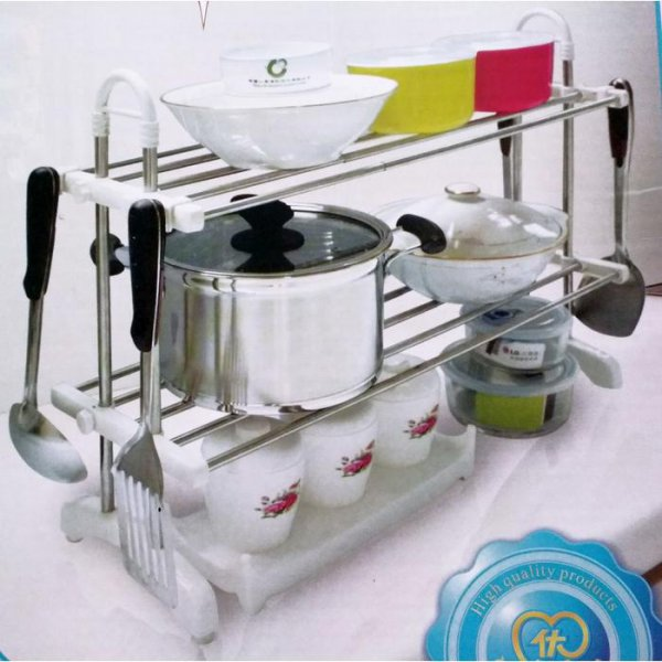 harga Lynx Rak Piring Rak Gelas 2 Susun Stainless Steel Kitchen Shelf 8508 elevenia.co.id