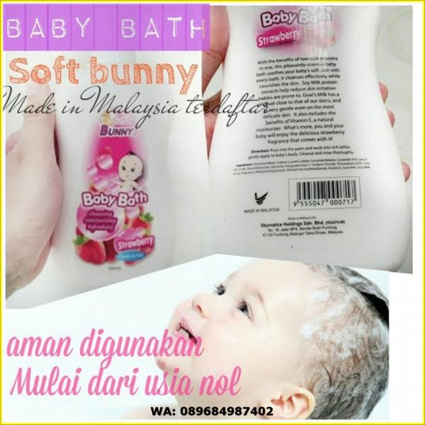 harga Soft Bunny Baby Bath Strawberry/Sabun Bayi Extract Susu Anti Iratasi elevenia.co.id