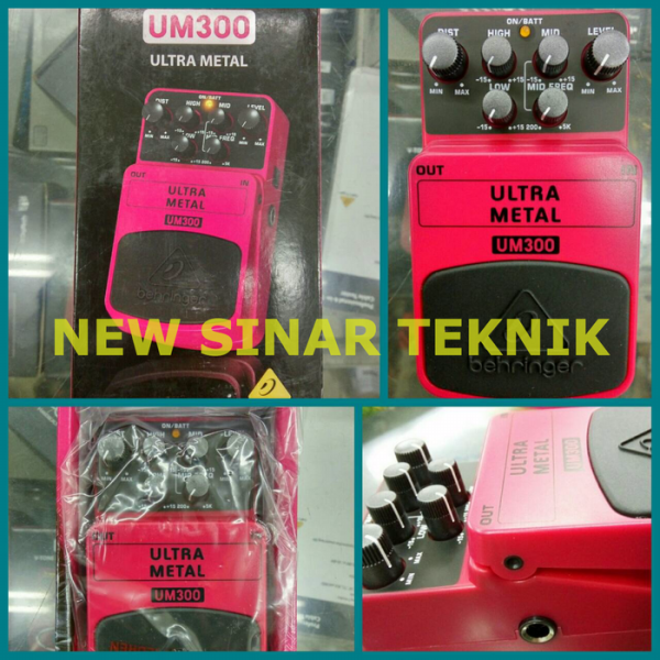 harga BEHRINGER UM300 Heavy Metal Distortion Stompbox / Pedal elevenia.co.id