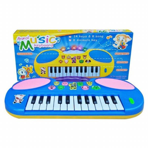 harga Maninan Anak - Animal Music Keyboard 14 Piano 8 Binatang Key Lampu elevenia.co.id