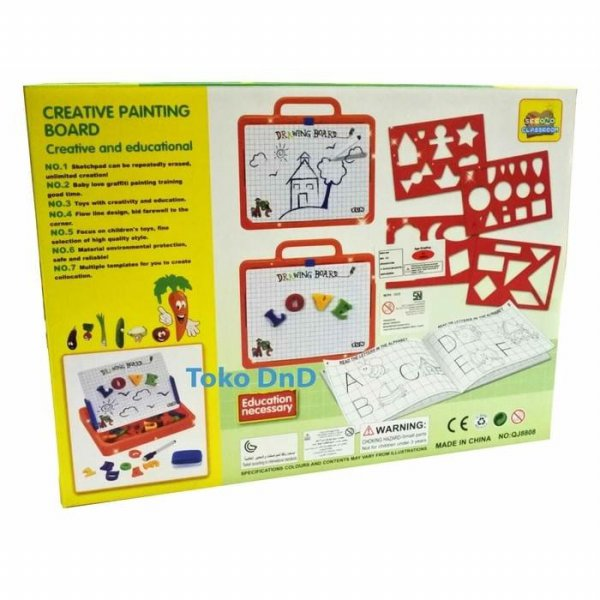 harga Mainan Edukasi Anak Creative Painting Board Papan Tulis Magnetic Board elevenia.co.id