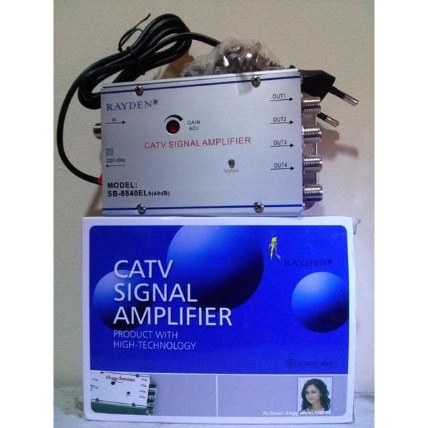 harga Penjernih  Penguat Sinyal TV TV Signal Booster + 4 Splitter 40dB elevenia.co.id