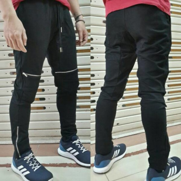 harga Jogger pants BALMAIN BIKER slim fit cotton stretch + details elevenia.co.id