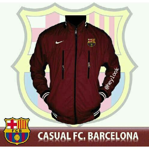 harga JAKET JERSEY FOOTBALL CLUB BARCELONA PARKA BOMBER PRIA ORIGINAL DISTRO elevenia.co.id