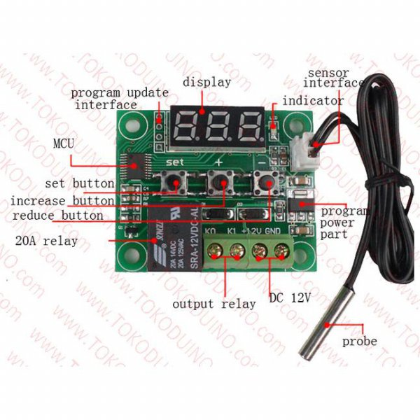 harga TEMPERATURE CONTROLLER / DIGITAL THERMOSTAT CONTROLLER RELAY 1CH W1209 elevenia.co.id
