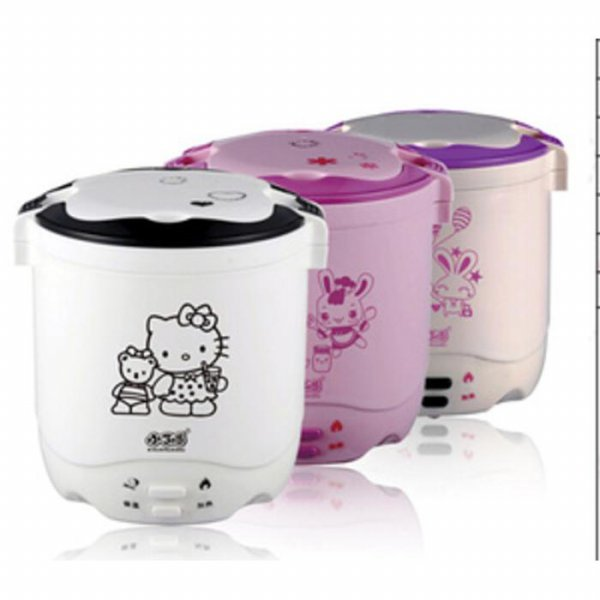 harga Mini rice cooker hello kitty hk slow warmer hk 2 susun kity nasi bubur/ GON5 elevenia.co.id