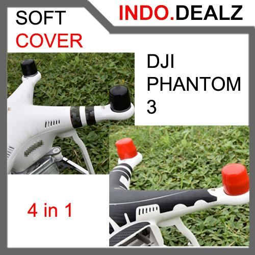 harga DJI Phantom 3 Soft Protective Motor Cover Motor Cap Cover 4 in 1 Drone Remote Control RC Toys elevenia.co.id