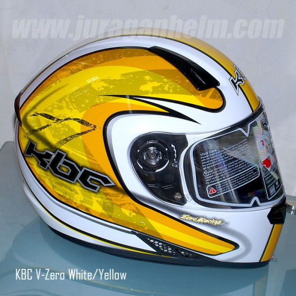 HELM KBC V-ZERO - WHITE/YELLOW Full Face