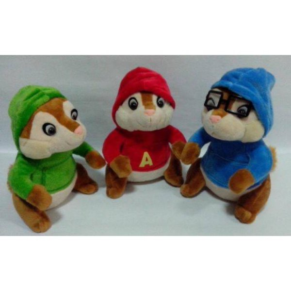 harga Paket boneka tupai  bajing isi 3:ALVIN and THE CHIPMUNK elevenia.co.id