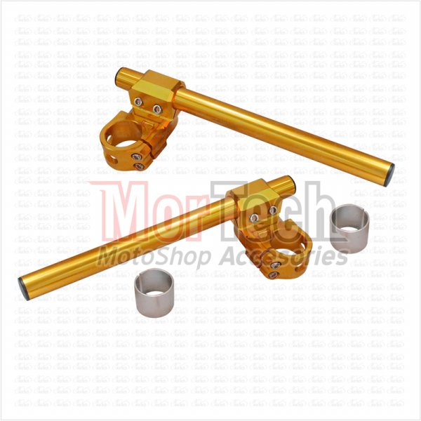 harga NUI Stang - Stir - Setang Jepit - Clip On 41 CNC M-Plus YZF R25 Gold elevenia.co.id
