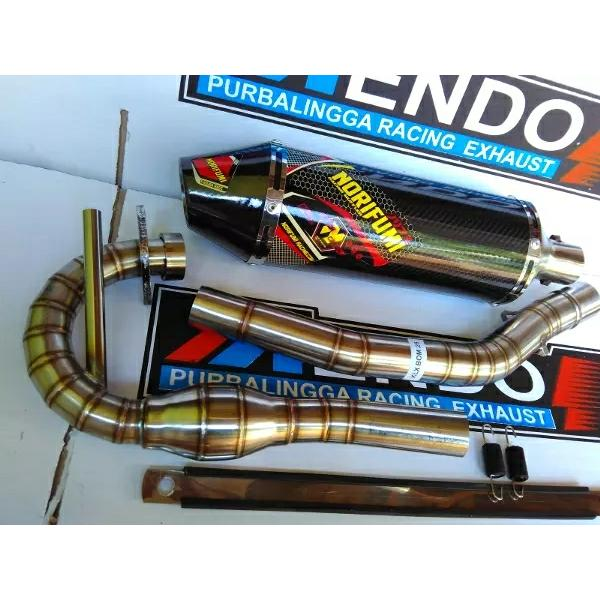 harga Knalpot Racing NORIFUMI BLACK MONSTER Fullsystem KLX BF elevenia.co.id