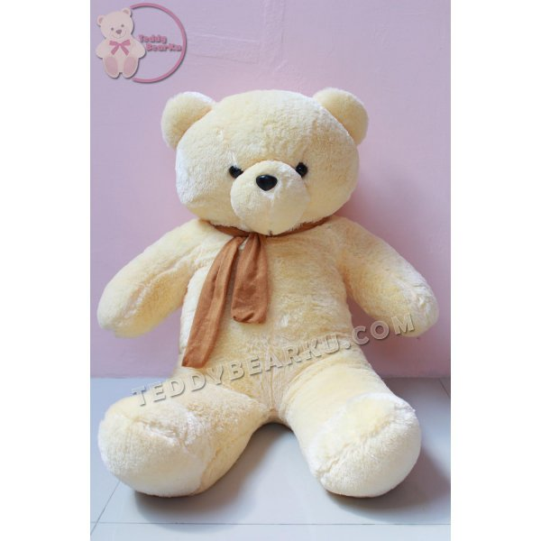 harga BONEKA TEDDY BEAR JUMBO 1 METER CREAM SYAL MODEL IMPORT elevenia.co.id