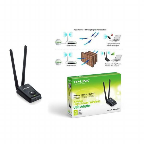 harga TP-LINK TL-WN8200ND 300Mbps High Power USB Adapter elevenia.co.id