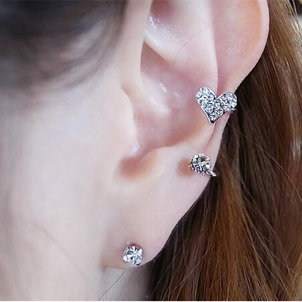 harga Anting Hati Heart Clip Ear Cuff Earring elevenia.co.id