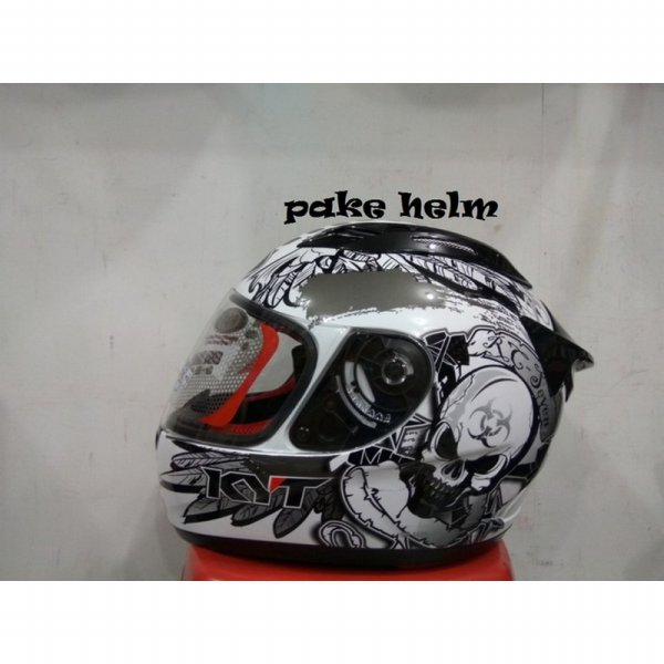 harga HELM KYT RC 7 RC SEVEN WHITE BLACK GUN METAL RC7 elevenia.co.id
