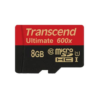 harga Transcend 8 GB 90 mb/s Micro SDHC Card Class 10 UHS-1 + SD Adapter Car elevenia.co.id