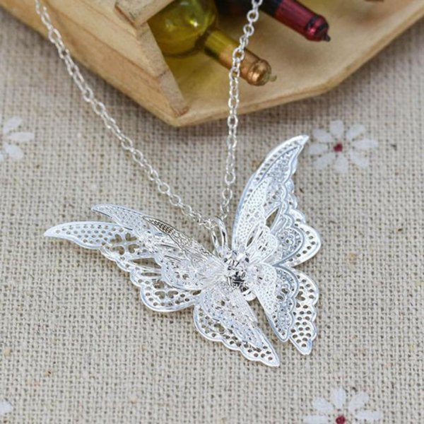 harga Kalung Cantik Butterfly Pendant Chain Necklace Best Gift For Friend elevenia.co.id
