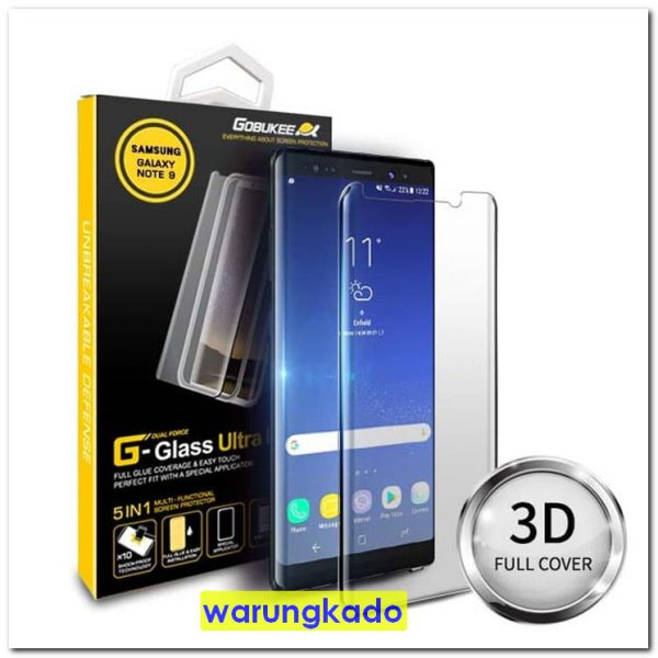 harga Gobukee Dual Force Galaxy Note9 Note 9 FULL AB GLUE Tempered Glass