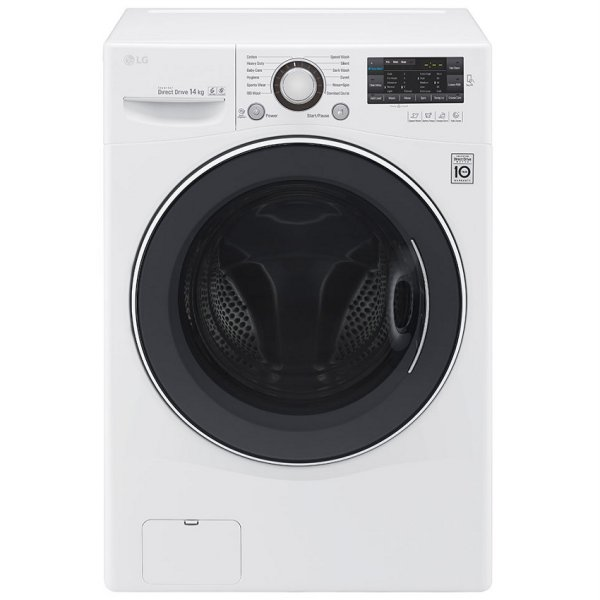 harga LG F1014NTGW Mesin Cuci Front Loading 14 Kg [Inverter Direct Drive Motor, & True Steam-Allergy Care elevenia.co.id