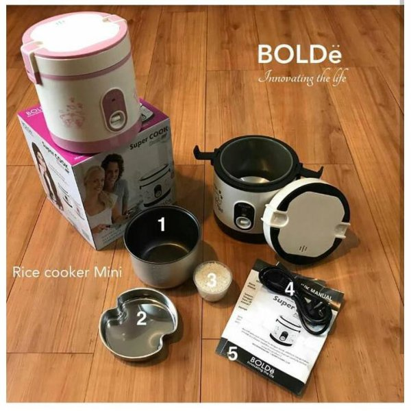 harga Mini Rice Super Cooker BOLDE Penanak Nasi Kecil Traveling Bubur Bayi elevenia.co.id