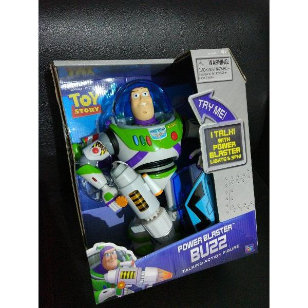 harga TOY STORY TALKING BUZZ LIGHTYEAR WITH POWER BLASTER  SHIELD ORIGINAL BY THINKWAY TOY elevenia.co.id