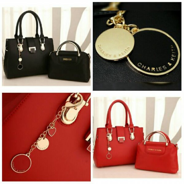harga Termurah! TAS IMPORT FASHION KOREA 2IN1 CK CNK CHARLES AND KEITH BRANDED BATAM elevenia.co.id