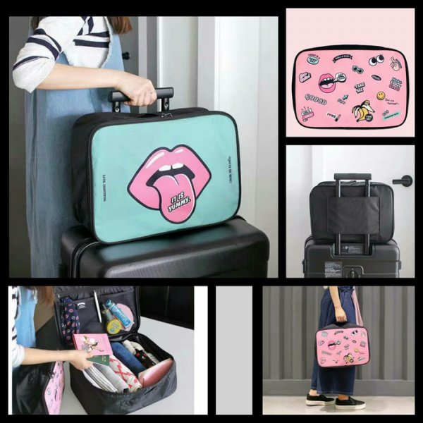 harga Termurah! KOREAN CUTE CARTOON TRAVEL BAG [SIZE L] / HANDCARRY BAG / TAS KOPER elevenia.co.id