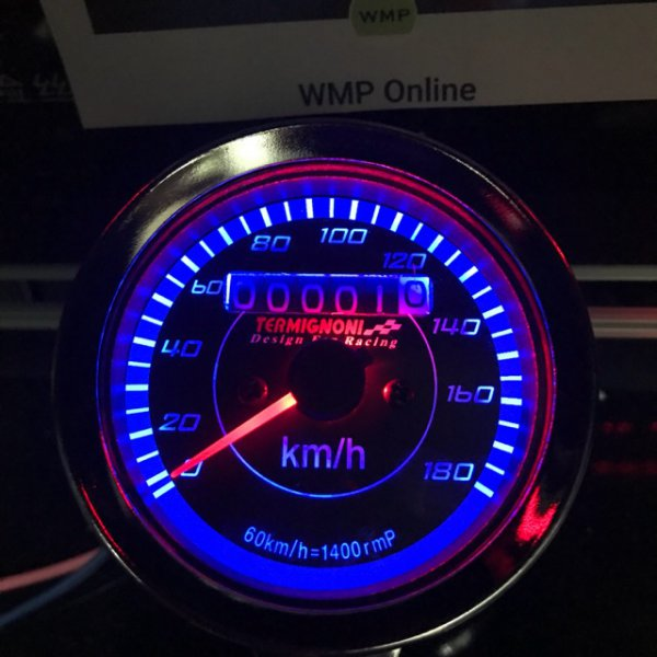 harga Promo Perlengkapan Motor  Speedometer Jarum Manual LED Speed Meter aksesoris motor elevenia.co.id