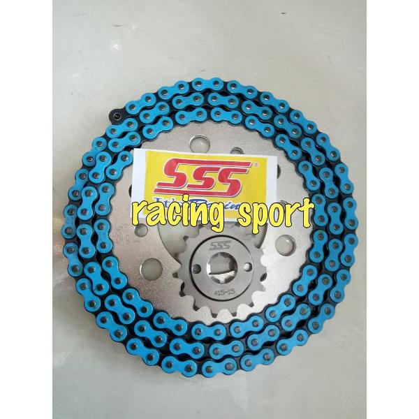 harga Sss gear set 415 motor force1. fizr. rx king. 1set gear dpn n blk rantai osaky .thailand elevenia.co.id