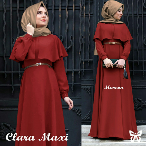 harga BAJU MUSLIM/DRESS/MAXI/GAMIS CLARA CAPE HIJAB SIS ALL SIZE FIT TO L elevenia.co.id