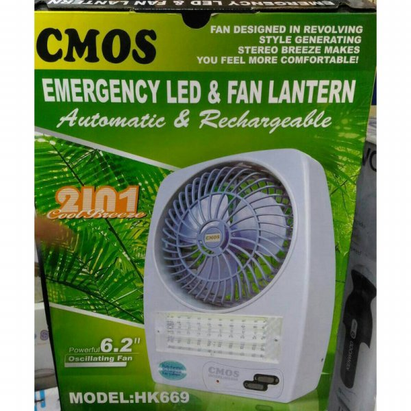 harga CMOS EMERGENCY LED FAN LANTERN KIPAS ANGIN LAMPU DARURAT HK669 HK 669 elevenia.co.id
