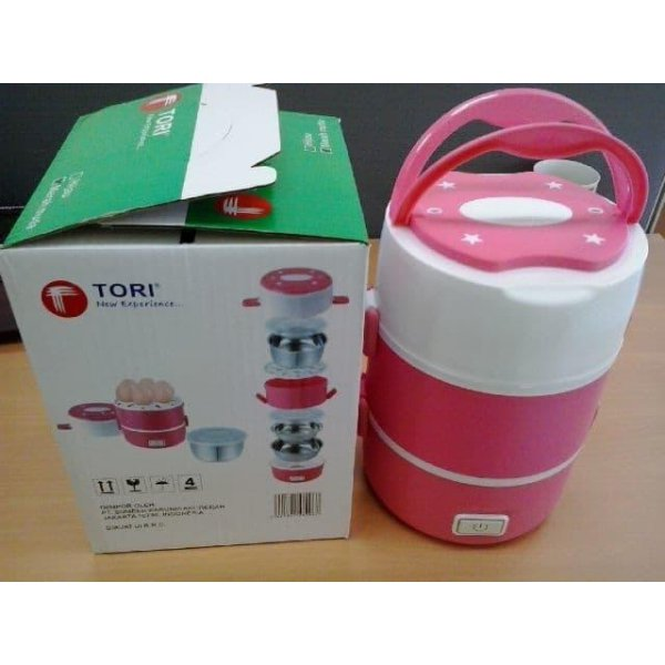 harga T2105 TORI TLB-111 Lunch Box Rice Cooker / Penanak Nasi serbaguna- pin elevenia.co.id