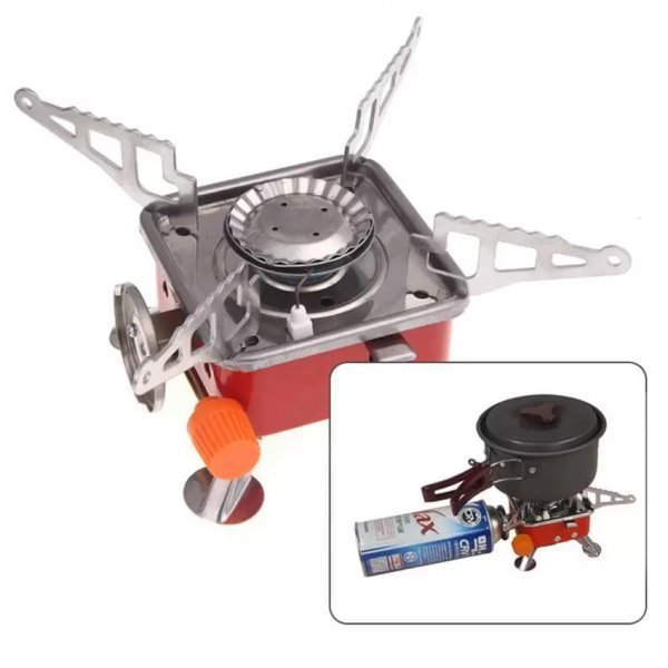 harga Kompor Camping Portable Mini Gas Kaleng |  Portable Card Type Stove elevenia.co.id