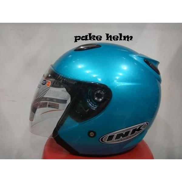 harga NEW HELM INK CENTRO JET SOLID ICE BLUE 100 ORIGINAL elevenia.co.id