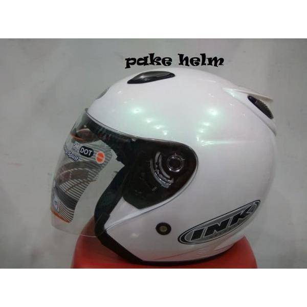 harga NEW HELM INK CENTRO JET SOLID WHITE 100 ORIGINAL elevenia.co.id
