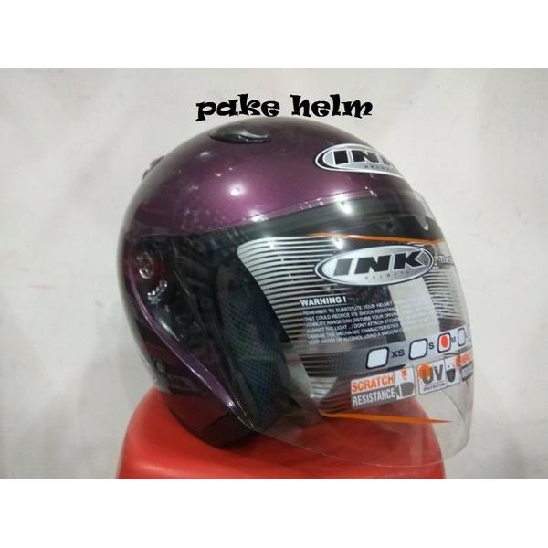 harga NEW HELM INK CENTRO JET SOLID UNGU 100 ORIGINAL elevenia.co.id