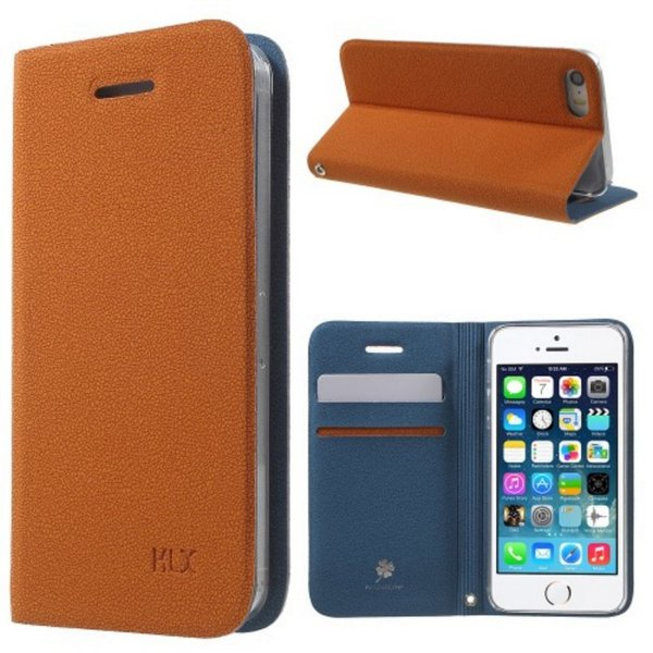 harga (Recommended) KLX CLOVER LEATHER CASE IPHONE 5 / 5S / SE BROWN elevenia.co.id