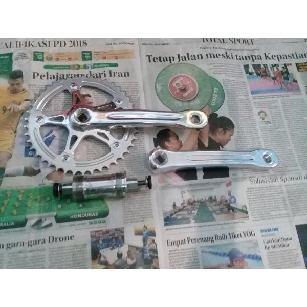 harga Crank Set FSA Gimondi 42t plus BB FSA RPM sealed bearing Termurah bukan Miche Sugino Shimano Sram elevenia.co.id