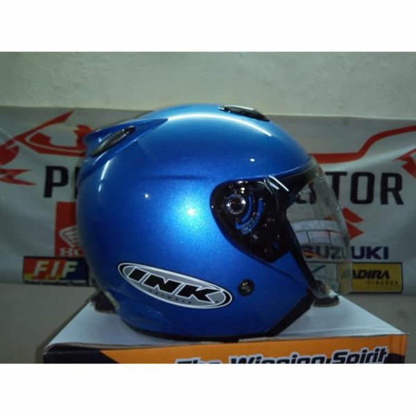 harga HELM INK CENTRO JET SOLID Blue Cystal THE  WINNING SPIRIT elevenia.co.id