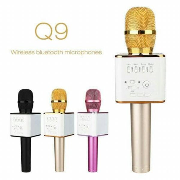 Speaker Aktif MIC Q9 WIRELESS BLUETOOTH SMULE KARAOKE SPEAKER TERBARU Q9 smule mic