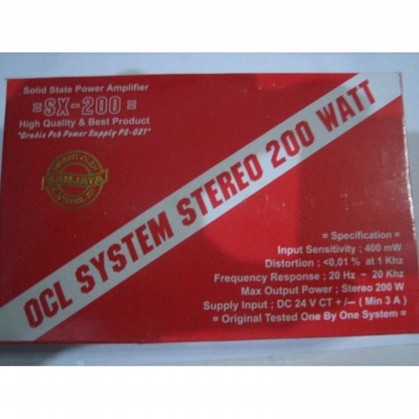 harga Kit Power Amplifier OCL Stereo 200 W Bell SX-200 elevenia.co.id