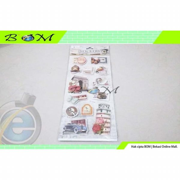 harga Stiker sticker tempelan scrapbooking scrap book 7D buku album foto 5 elevenia.co.id