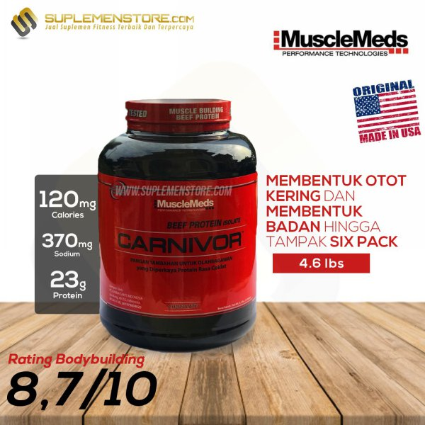 harga Musclemeds Carnivor Whey Beef Protein Isolate 4lbs / 4.5 lbs elevenia.co.id