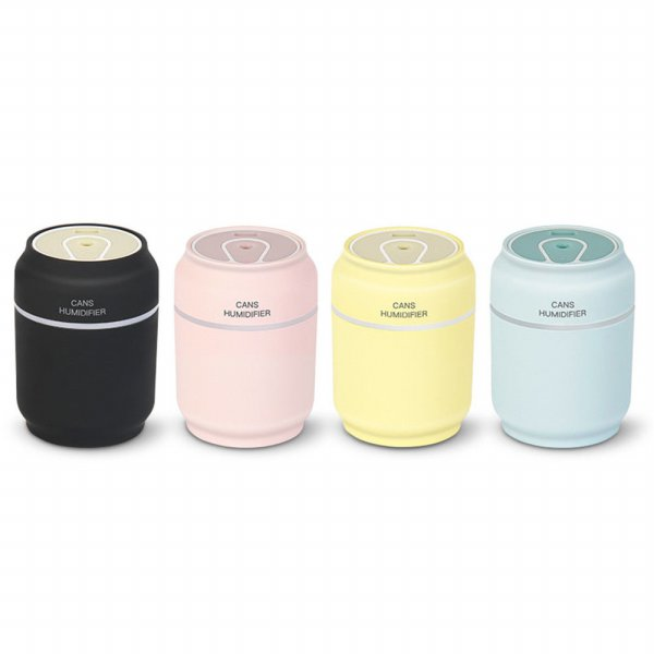 harga 3 in 1 Mini Cute USB Can Shape (Botol Kaleng) Humidifier 7 Color LED Night Light Diffuser - 200ml elevenia.co.id