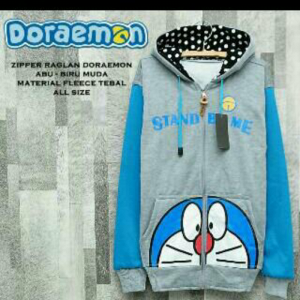 harga Jaket doraemon abu turkish elevenia.co.id