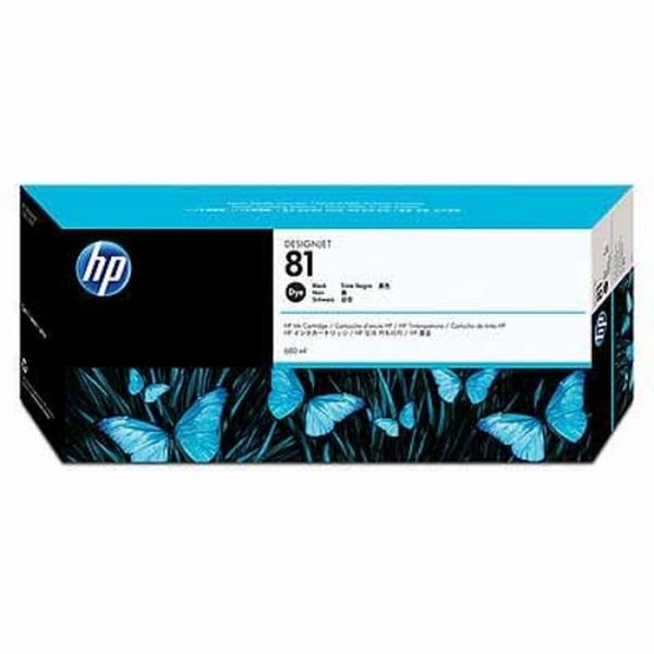 harga Tinta HP 81 680ml Black DesignJet Dye Ink Cartridge C4930A Original elevenia.co.id