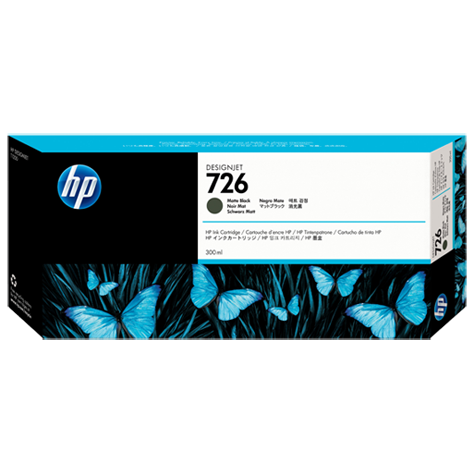 harga Tinta HP 726 300ml Matte Black DesignJet Ink Cartridge CH575A elevenia.co.id