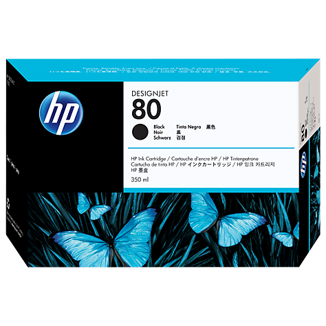 harga Tinta HP 80 350ml Black DesignJet Ink Cartridge C4871A Original elevenia.co.id